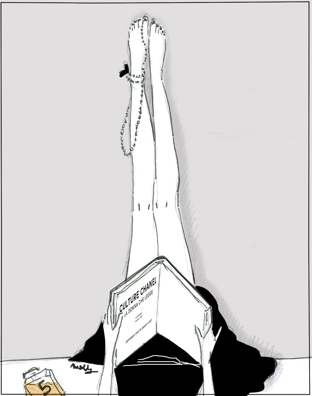 chanel illustration by maddalenadesign